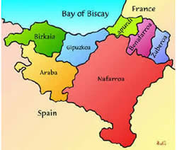 Basque Map Of Spain.Basque Mustgo Com