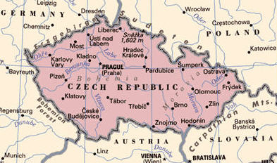 CzechRepublicMap map