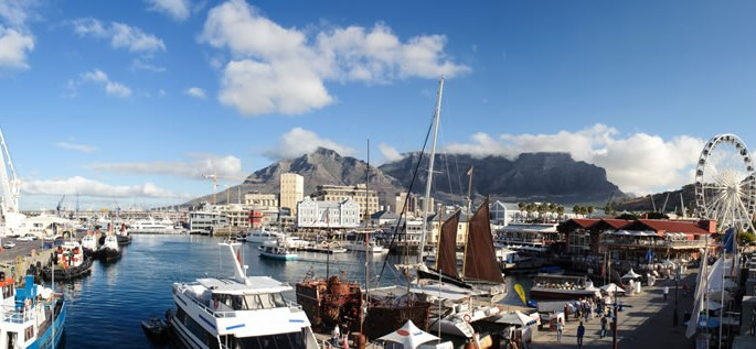 LAfrikaans language, V&A Waterfront in Cape Town