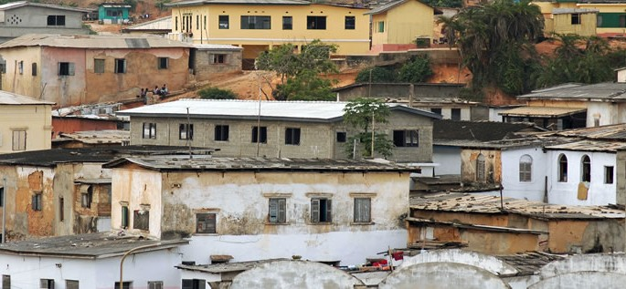 Éwé language, houses in Ghana