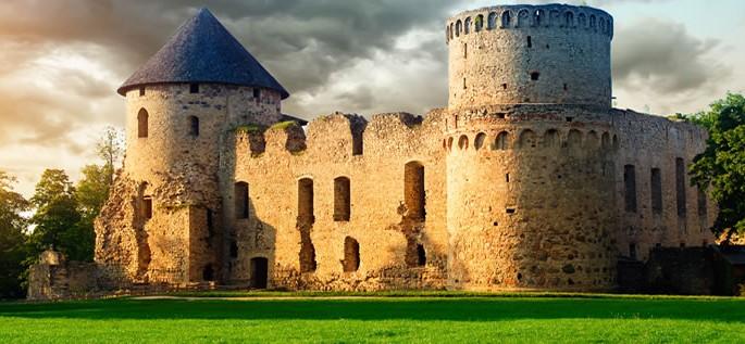 Latvian language, Cesis Castle