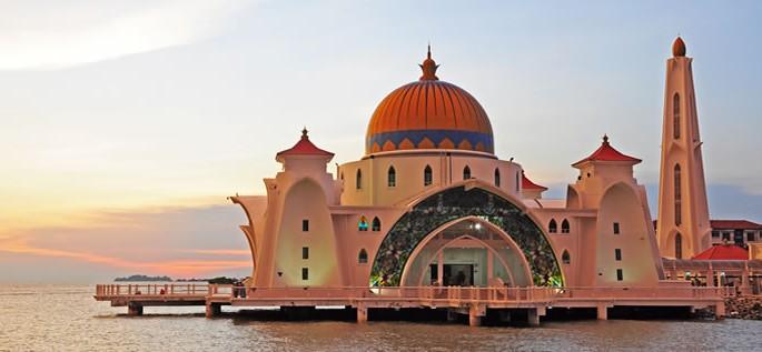 Malay (Bahasa Melayu) language, Melaka Straits Mosque