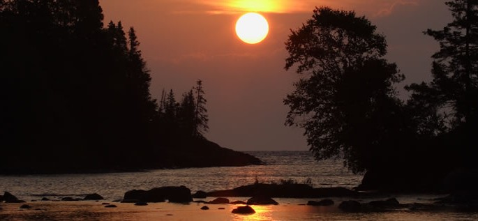 Ojibwa language, sunset
