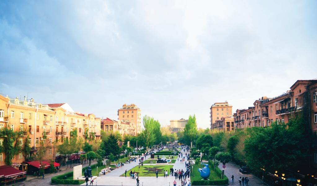 Open-air café in Yerevan