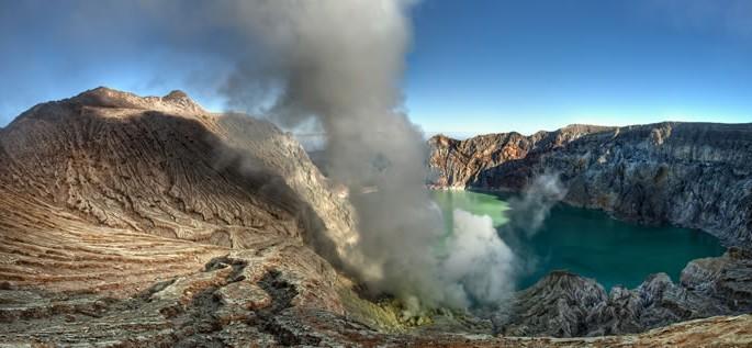 Javanese language, volcano